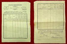 G55-STATO PONTIFICIO,ROMA, SOMMINISTRAZIONE FORAGGIO REGGIMENTO ARTIGLIERIA,1849