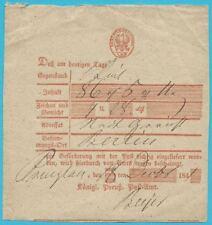 Postscheine Preußen Rotdruck mit zwei Silbergroschen Scheingebühr!