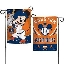 "HOUSTON ASTROS MICKEY MOUSE 12""X18"" 2-SIDED GARDEN FLAG BRAND NEW"