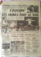 L'Equipe Journal 3/12/1984: Perrine lance son défi/ Nantes champion d'Automne