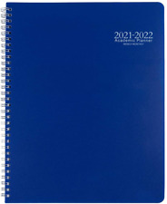 Academic Planner 2021 2022 Monthly Calendar With Hard Pvc Cover 9 X 11 Blue