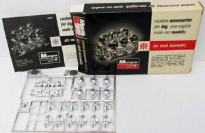 1963 MONOGRAM 1:8 SCALE BIG T CUSTOM SIX CARB PLASTIC MODEL ACCESSORIES RARE NEW