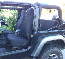 Jeep Wrangler TJ Neoprene Seat Cover Front & Rear full set 2003 - 2006 Black fs