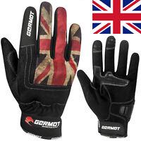 GERMOT Motorradhandschuhe FLINT UK Sommer atmungsaktiv kurze Stulpe Gr. 9 / M
