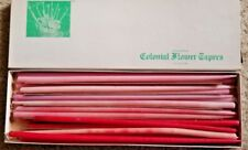 Colonial Flower Tapers - Red, Pink, Light Purple - Some Were Lit - 25 Candles