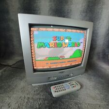 """Vintage 14"""" Sanyo CE14M4 CRT TV Retro Gaming Display, Monitor Cube, With Remote"""