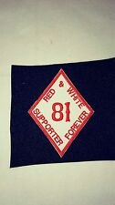 Support 81 Diamond Patch Mighty Red & White Supporter!!!!