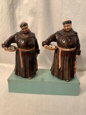 2 Royal Doulton Figurines Hn 2144 Jovial Monk c 1953 Both Versions Fat & Tall