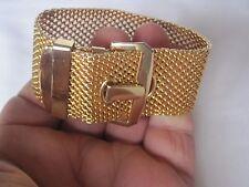 Estate, Unique Gold-Tone Belt Bracelet