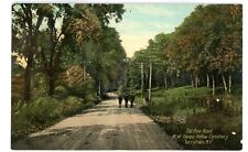 Tarrytown NY - OLD POST ROAD NORTH OF SLEEPY HOLLOW CEMETERY- Postcard