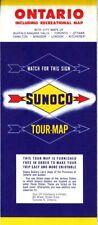 1959 Sunoco Road Map: Ontario NOS