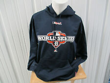 VINTAGE MAJESTIC DETROIT TIGERS 2012 WORLD SERIES LARGE HOODIE SWEATSHIRT NWOT