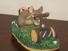 """Fitz & Floyd Charming Tails """"Mow Mow Mow The Lawn"""" Figurine  # 83/809"""