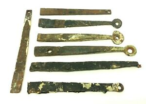 Colonial Forged Metal Black Wrought Iron Straps House Barn Door Parts