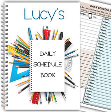 PERSONALISED DAILY SCHEDULE PLANNER/ORGANISER/ DIARY A5 WIRE BOUND 11