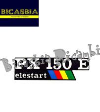 11027 - TARGHETTA COFANO LATERALE VESPA PX 150 E ARCOBALENO ELESTART
