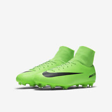 hot sale online 45b61 653cc Nike Kids Mercurial Victory VI DF FG Cleats Electric Green Flash Lime Sz 6Y