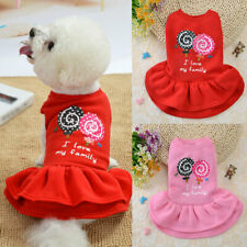 Dog Skirt Pet Dress Cotton Small Dogs Princess Dress Chihuahua Puppy Cat Clothes