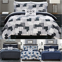 Chic Home Utopia 8 Piece Reversible Duvet Cover Set Bohemian Bed in a Bag