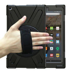 For Amazon Fire 7 / HD 8 / HD 10 Tablet Shockproof Rugged Stand Case Strap Cover