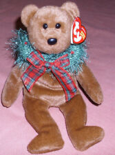 """Ty Beanie Babie  Holiday Brown  Bear    Size 9"""" Tall 2005 Retired"""