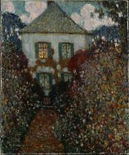 The House of Jean-Jacques Rousseau, Chambray Sidaner Oil Painting repro