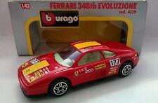 BURAGO 1:43 DIE CAST MADE IN ITALY FERRARI 348 TB EVOLUZIONE ART 4129