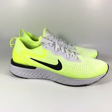 Nike Odyssey React Volt Yellow White Black Running Shoes AO9819-103 Mens Size 11