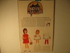 Vintage Betsy McCall's School Prepares for Thanksgiving Paper Doll Page 1964