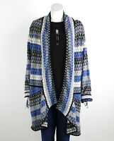 Nic+Zoe Womens Triangle Bliss Cardigan Sweater Open Front Multi Plus Size 2X New