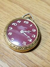 "LUCERNE POCKET WATCH 1 5/8"" WIDE MECHANICAL SWISS MOVEMENT SWIZZ BASIS 1 JEWEL"