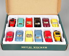 Model Toy 1/32 Diecast Car Collection Alloy Kid Gifts Metal Wecker 12pcs/set