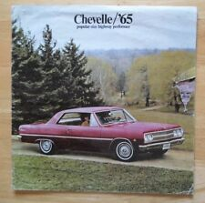 CHEVROLET Chevelle orig 1965 large format USA Mkt sales brochure - Malibu 300