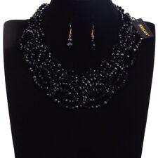 Fashion Jewelry Chain Rhinestone Crystal Choker Statement Bib Pendant Necklace
