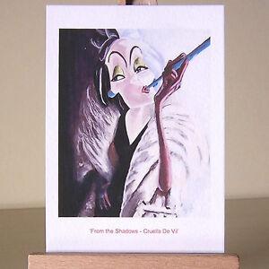 villain Cruella WDCC drawing ACEO art