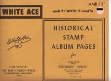 """White Ace 1983 Supplement """"Amb-13"""" for United States Airmail Blocks of 4"""