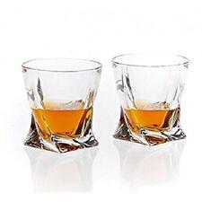 Conjunto de 2 vasos de cristal elegante curva Vasos 340 Ml Whisky espíritus | Quadro