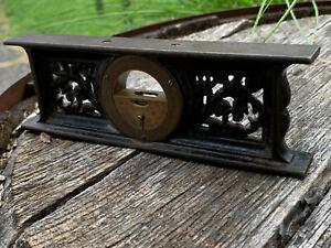 "Antique Davis Level & Tool Co 1867 7"" Inclinometer Ornate Cast Iron Victorian"