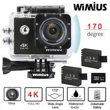 4K Ultra Wimius Wifi Waterproof Sports Action Camera 1080P HD DVR Cam+32GB Card