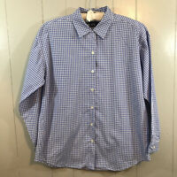 GAP Purple White Checkered Relaxed Fit Long Sleeve Button Down Shirt Top Small