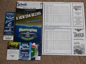 '09 Columbus Clippers Baseball Program Chris Gimenez David Huff Insert Cards