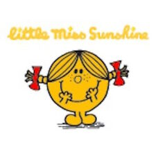 MR MEN AND LITTLE MISS GREETING CARD: LITTLE MISS SUNSHINE - NEW IN CELLO