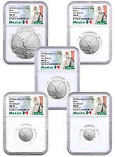 2018-Mo Mexico Silver Libertad - 5-Coin Set NGC MS70 FR Exclusive Label SKU53393