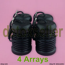 New 4 Black Round Arrays Arrays For Ionic ion Foot Detox Foot Bath Spa Accessory