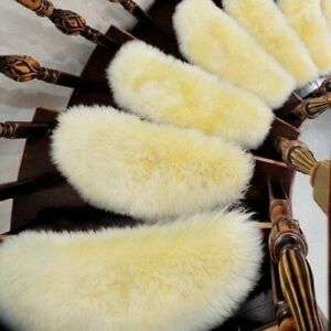 Stair Carpet Sets Faux Fur Sheepskin Tread Mats Step Rug Anti Slip Resistance
