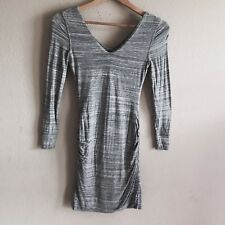 Banana Republic Womens Dress Ruched Stretchy Gray Jersey Dress Size PXXS
