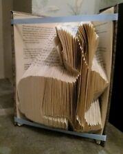 Hare/rabbit folded book art gift