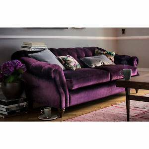 50% Deposit (total £1440) Chesterfied Connaught 2 Seater Sofa Bed Navy 5187-57