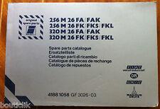 ►Catalogue de pièce de rechange IVECO 256 M 26 FA. FAK. FK. FKS.FKL.320 M