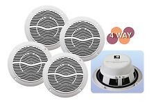 E-Audio 4 Way Bluetooth Bathroom Kitchen Home Commercial Ceiling Speaker Kit